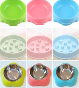 Dog Cat Pet Slow Feeder Bowl And 2 Styles Water/Food Bowl