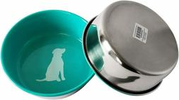 American Pet Supplies Dog Bowls, Set of 2 Colored Heavy 16 O