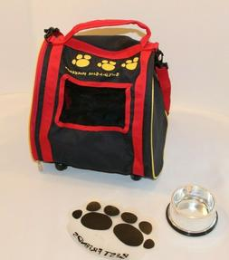 Build A Bear Pet Carrier with Wheels, Mat and Food Bowl