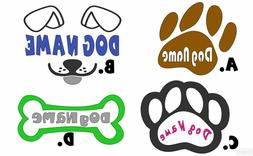 Custom Text Vinyl Lettering Sticker Decal Personalized Dog H