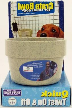 Happy Home Crate Bowl for Small Dogs
