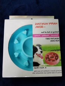 happy hunting dog food bowl healthy diet heart shape 7 Inch