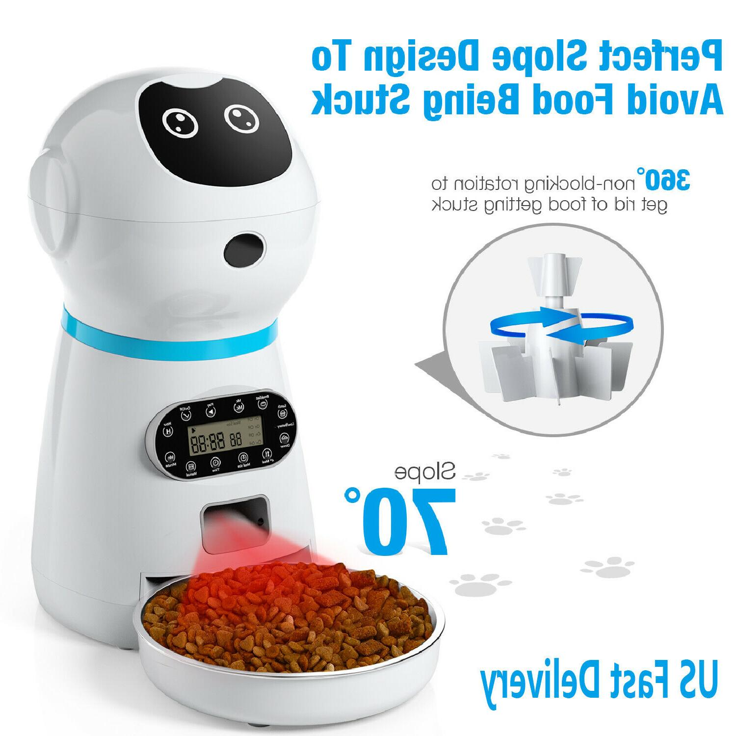 automatic pet feeder dog cat programmable animal