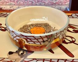 Disney Parks Lady and the Tramp Ceramic Pet Dog Cat Bowl fea
