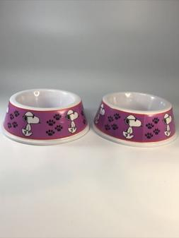 Lot Of 2 Vintage Snoopy United Feature Syndicate Pink Dog Di