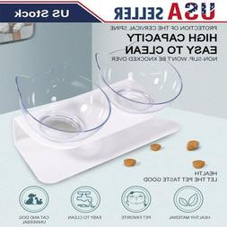 Non-slip Cat Double Bowls Pet Food Water Bowl Cats Dog Feede