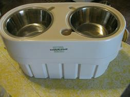 Our Pet's Co Store-N-Feed Adjustable Raised Dog Bowl Feeder/
