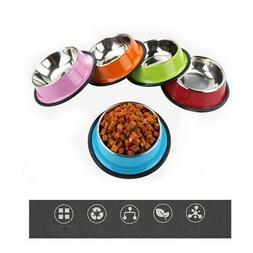 Pet Dogs Basic Bowls Feeder Durable Stainless Steel Puppy Ca