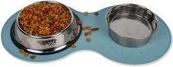 Pet Food Mat for Dog Cat Silicone Waterproof Placemat Dish B