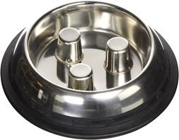 ProSelect Dog Stainless Steel Brake-Fast Slow Feed Bowl Cat