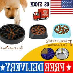 Slow Feeder Dog Bowl Eating Interactive Down Feed Large Feed