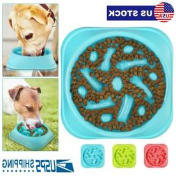 Slow Feeder Dog Bowl Small Anti Bloat Non Skid Eating Food D