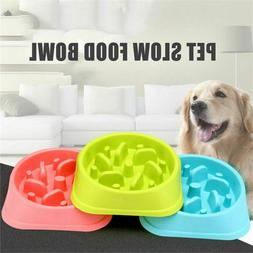 Slow Feeder Dog Bowl Small Cat Eating Non Slip Puzzle Dish F